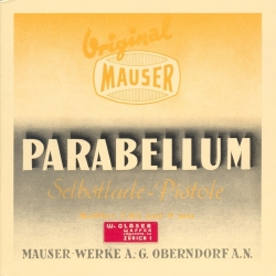 Parabellum Selbstladepistole – manual 1936 (in german language)