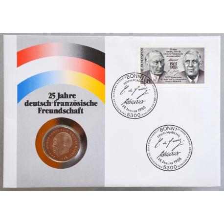 Numisbrief - Deutschland - 25 Jahre Deutsch-Französische Freundschaft