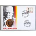 Numisbrief - Deutschland - Kurt Schumacher 1989