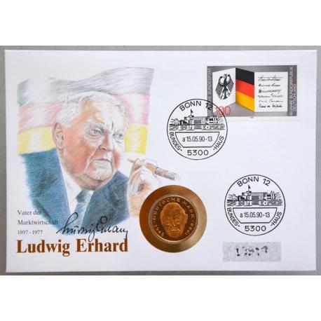 Numisbrief - Deutschland - Ludwig Erhard 1990