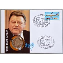 Numisbrief - Deutschland - Franz-Josef Strauß 1990
