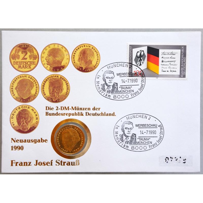 Numisbrief Deutschland Franz Josef Strauß 1990 Rwm Kiosk