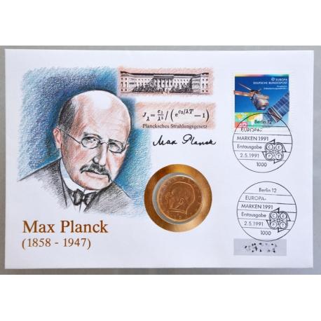 Numisbrief - Deutschland - Max Planck 1991