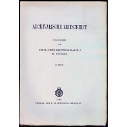 Archivalische Zeitschrift 46 (1950)