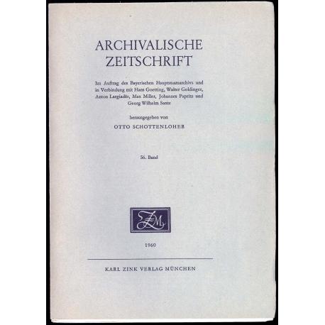 Archivalische Zeitschrift 56 (1960)
