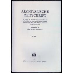Archivalische Zeitschrift 63 (1967)