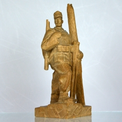 Carved Figure of a Mountain infantry soldier